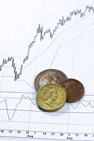 british pounds on chart background Stock Photo - 4901199