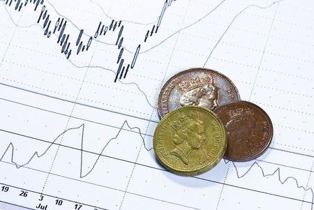 british pounds on chart background Stock Photo - 4901197