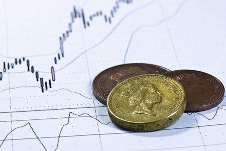 british pounds on chart background Stock Photo - 4901235