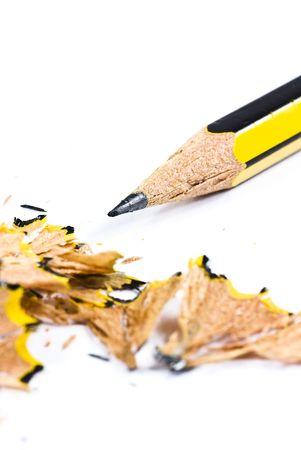 pencil shavings closeup photo