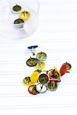 thumbtack on white background Stock Photo - 5133669