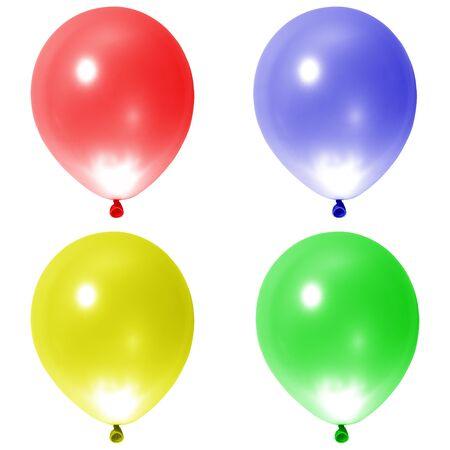 globos fiesta: Parte globos en el fondo blanco