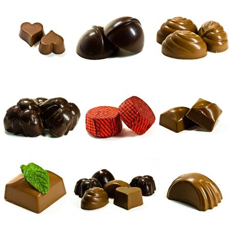 chocolates collection  Stock Photo