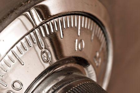 valuables: safe lock closeup