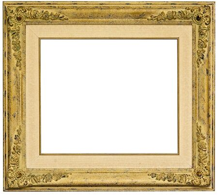 vintage picture frame on white background photo