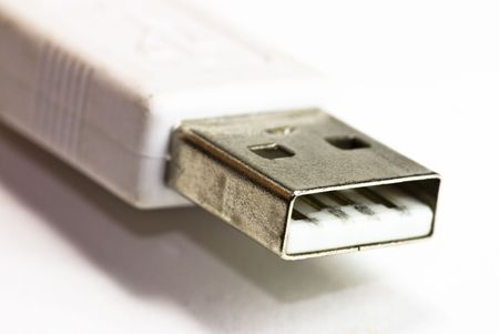 usb plug on white background Stock Photo - 4937669