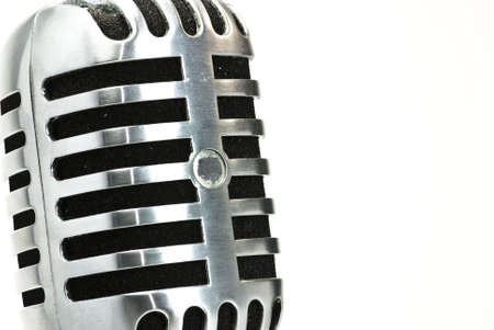 microphone vintage on white background Stock Photo - 4937687