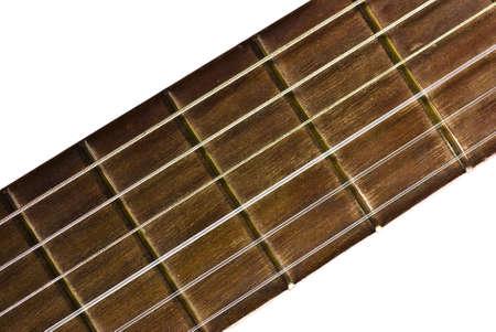 wooden guitar closeup photo