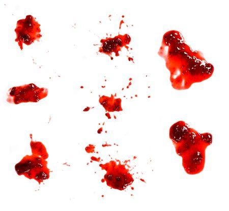strawberry jam splashes on white background