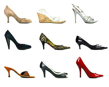 fashion woman shoes collection photo