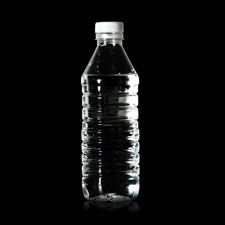 water bottle on black background Stock Photo - 4937703