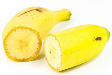 bannana: bannana on white background Stock Photo
