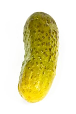 gherkin: gherkin on white background Stock Photo