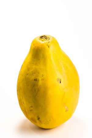 papaw: pear on white background Stock Photo