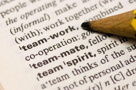 teamwork word and pencil photo