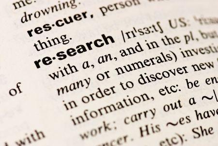 diccionarios: antecedentes de la palabra de investigaci�n Foto de archivo