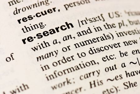 definition: research  word background