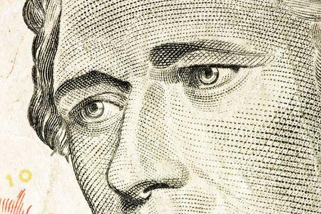 alexander hamilton: Hamilton faccia sul dollaro texture