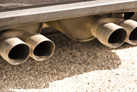 car exhaust closeup photo