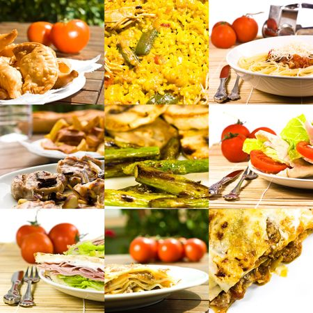 food collage Stock Photo - 5152017