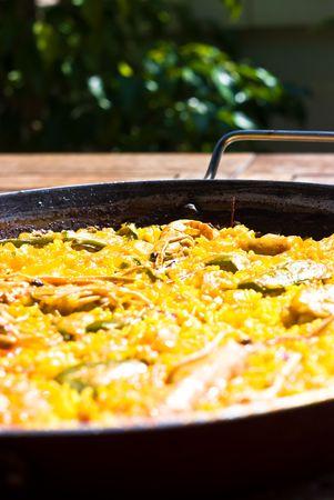 paella closeup photo