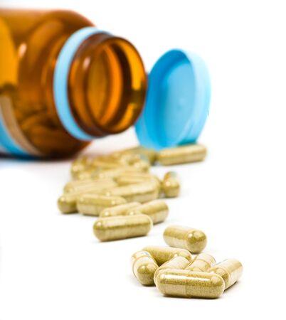 vitamina a: portarretrato de c�psulas Foto de archivo
