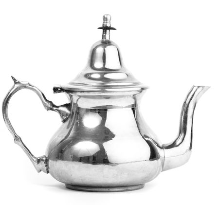plate tea pot isolated photo