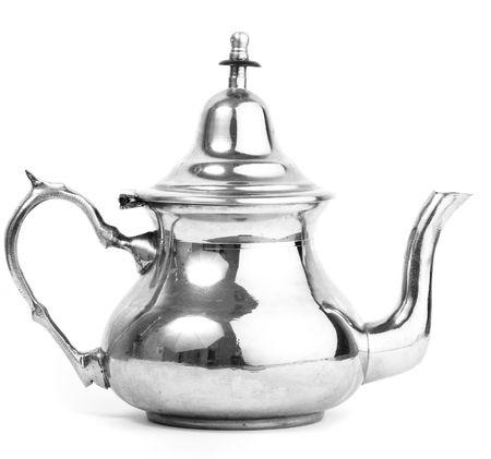 plate tea pot isolated photo