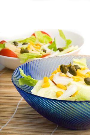 salad on sunny day photo