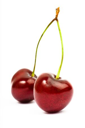 crimson colour: cherries isolated