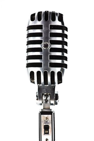 mc: metal microphone isolated