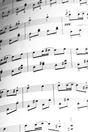music sheet closeup Stock Photo - 5169599