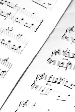 music sheet closeup Stock Photo - 5169593