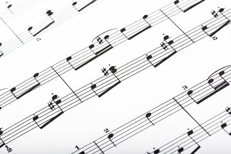 music sheet closeup Stock Photo - 5169565