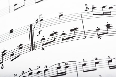 music sheet closeup Stock Photo - 5169601