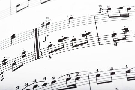 music sheet closeup Stock Photo - 5169601