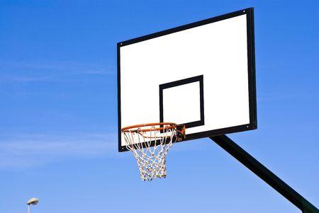 iron hoops: basketball ring Stock Photo