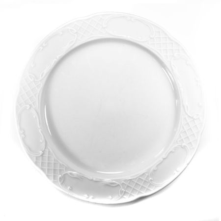 blue white kitchen: plate isolated