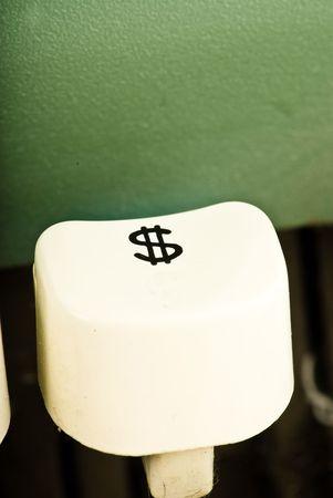 key dollar of typewriter photo