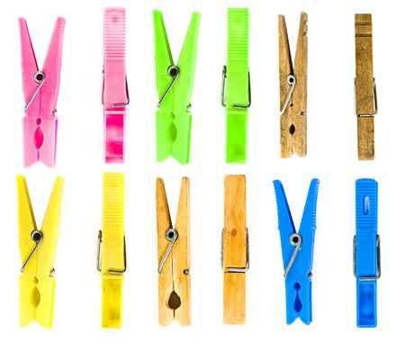 clothespin isolated Stock Photo - 5228764