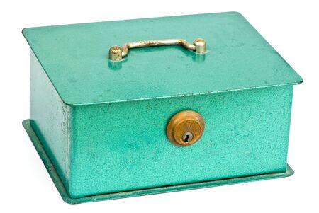 blue safe lock isolated photo