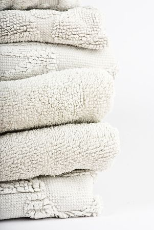 white towels on white background photo