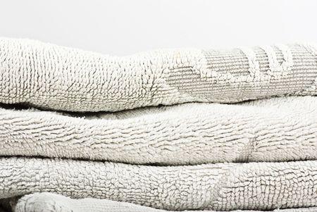 white towels on white background photo
