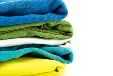 towels on white background photo