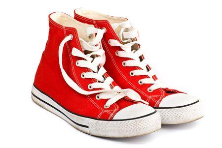rode schoen geïsoleerd Stockfoto