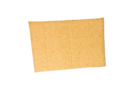 cardboard piece isolated Stock Photo - 5264092