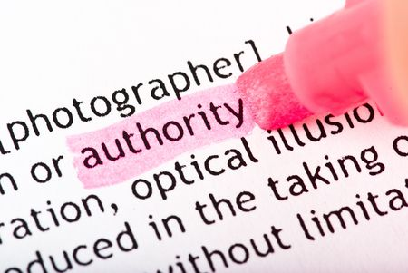 authority word Stock Photo - 5264081