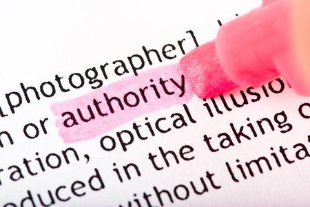 authority: authority word Stock Photo