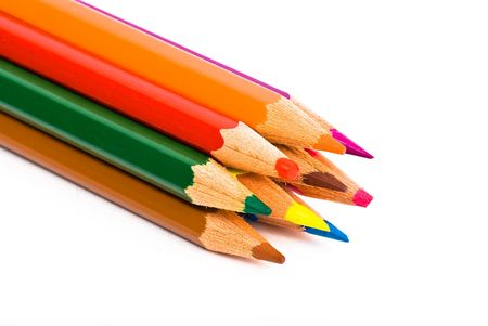 crayons on white background Stock Photo - 5263977