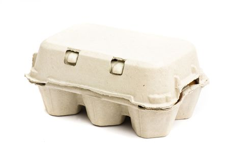 eggs carton isolated Stock Photo - 5277795